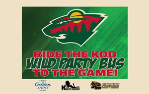 MN Wild Party Bus